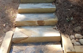 garden slab steps