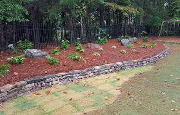 hardscapes in a backyard