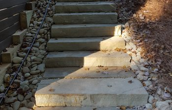 stone steps to the garden