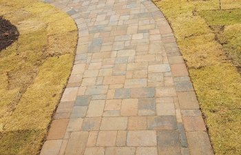 paver in a front yard