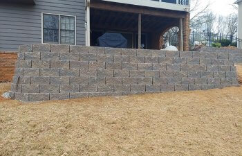 wall in front of a house